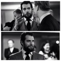 Henry Cavill. Dear Lord that glorious beard!!