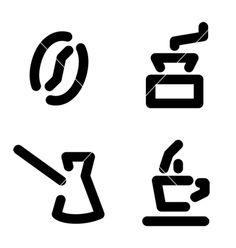 Coffee set vector- would make a cute tattoo
