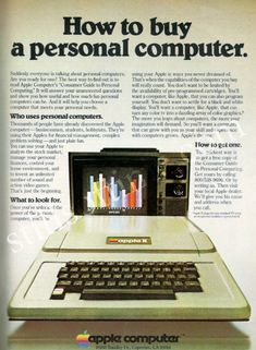 Old Apple Print Ad. It's simple. Its formatted correctly. It has a basic, readable font. And it's classic Apple.
