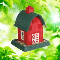 Red Barn Birdfeeder