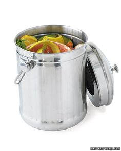 Compost Pail    Keep an airtight container in your kitchen so you can make your own nutrient-rich soil -- and not throw more waste into landfills.