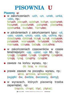 ortografia i gramatyka - kas. Learn Polish, Polish Language, French Grammar, Gernal Knowledge, School Subjects, School Notes, Study Motivation, Teaching English, Kids And Parenting