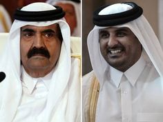 Emir of Qatar hands power to his son the Crown Prince Sheikh Tamim .25june2013.