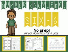 Number Knowledge: Number 6 (NO PREP!) from Wise Little Owls on TeachersNotebook.com -  (50 pages)  - These activities include everything you need to learn all about the number 6 for an entire week ! Perfect for toddlers, preschoolers, Pre-k, Kindergarten, PPCD, and Special Education.