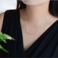 bab8dc6713a93 Simple sterling silver bar necklace Bar layer necklace Long