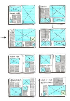layout grid ideas for editorial design / pages