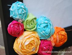 colorful fabric rosettes
