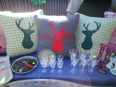 STUNNING STAG - NZ ICONIC RETRO UPCYCLED BLANKET CUSHION COVER
