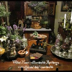 """More of our Wicked house Merchantile Apothecary where all our magickal goods are made for our Etsy shoppe! #witch #witches #pagan #witchcraft…"""