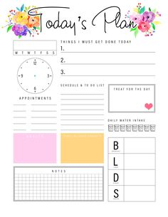 Daily Planner Pages, Daily Planner Printable, Study Planner, Project Planner, Free Printable Calendar, Free Printables, Planner Ideas, Bullet Journal Books, Bullet Journal Ideas Pages