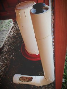 PVC chicken coop feeder- Today's Letters: {Projects Around The Harvest House} Part VI