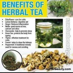 Benifits of herbal tea