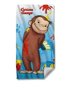 This Curious George Paint Beach Towel is perfect!  zulilyfinds Towels  Smell 9de268a1b4b5