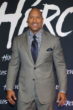 """Dwayne """"The Rock Johnson looked dapper at the Mexico City premiere of Hercules.--herpinkjersey.com"""
