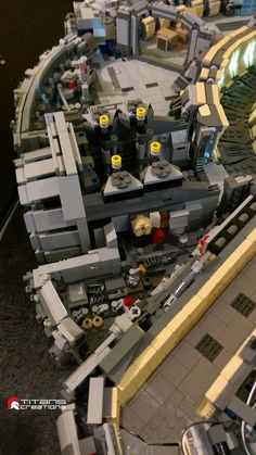 Pin for Later: You Need to See This Amazing Lego Millennium Falcon Close Up Here we have more tiny spaces to lose a LEGO minifigure in Brick Projects, Lego Projects, Lego Millenium Falcon, Minifigures Lego, Instructions Lego, Legoland Malaysia, Lego Spaceship, Spaceship Concept, Lego Furniture