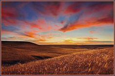 Sunset In The Beautiful Kansas Flint Hills ~~~**~~~**~~~ The Flint Hills There's a simple kind of beauty In the Flint Hills late at ni. Amazing Sunsets, Beautiful Sunset, Amazing Nature, Beautiful World, Beautiful Places, Beautiful Scenery, Photography Gallery, Sunset Photography, Landscape Photography