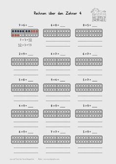1000 images about mathe zr 20 on pinterest math fact families and numbers. Black Bedroom Furniture Sets. Home Design Ideas
