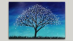 Surreal Fantasy Tree Acrylic Painting Abstract Silhouette Landscape #StudioSilverCreek #AcrylicPainting #art #Silhouette