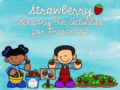 Strawberry Sensory Bin Activities for Preschool Kindergarten Special Education, Kindergarten Blogs, Spring Activities, Literacy Activities, Step Kids, Teacher Organization, Sensory Bins, Differentiation, C2c