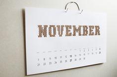 Embroidery Calendar by Iwona Przybyla, via Behance
