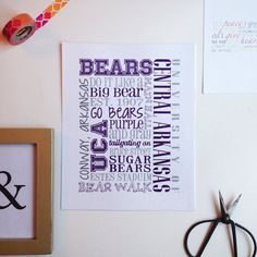 University of Central Arkansas UCA Bears Collage by theSimplePerks