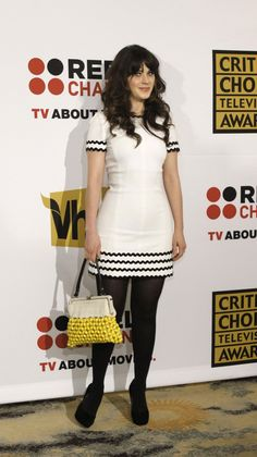 Zooey Deschanel - I love how the giant ric rac adds interest and style to an otherwise very simple dress.