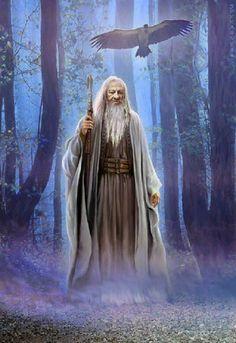 El mago Merlín es fruto de una antigua tradición oral galesa.