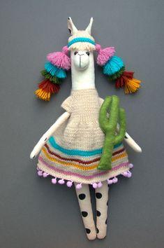 Plush alpaca toy, llama cloth toy, llama cuddly doll, gift for baby - - Alpacas, Sewing Toys, Sewing Crafts, Sewing Projects, Alpaca Toy, Baby Alpaca, Baby Dolls For Toddlers, Tilda Toy, Llama Gifts