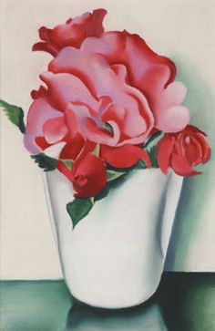 Georgia O'Keeffe - Pink Roses, Pastel on paper. 1937.