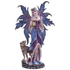 Fairy Meadows Cute Lavender Fairy Lying on Grassland Figurine Decoration Statue