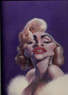 Madonna Caricature by Sebastian Kruger