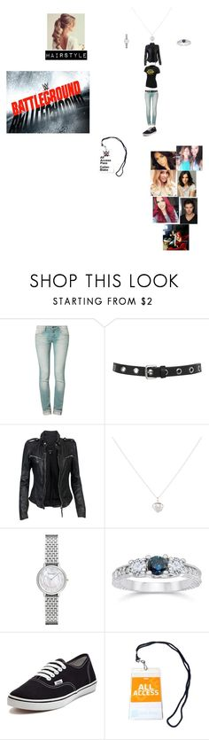 """""""Watching Battleground 2014 with the girls & Ryan  (Cailan's Outfit)"""" by wwetnagirl ❤ liked on Polyvore featuring One Green Elephant, Miss Selfridge, MuuBaa, Accessorize, Emporio Armani, Vans, WWE, Lauren Conrad and Lutz Huelle"""