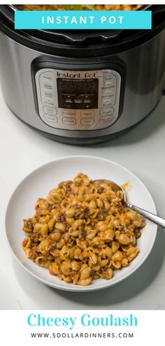 Check out this easy and delicious instant pot cheesy beef goulash dinner recipe! It's so good your family will come back for seconds! Cheesy Goulash Recipe, Goulash Recipes, Slow Cooker Recipes, Crockpot Recipes, Dog Food Recipes, Dinner Recipes, Beef Goulash, Hamburger Recipes, Fall Recipes