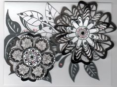 The Creativity General Store: More Zentangle Flowers