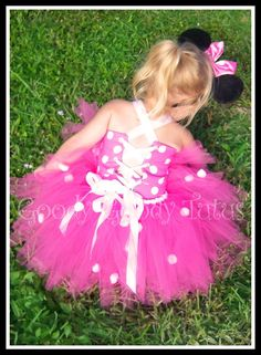 Pink Minnie Mouse tutu.