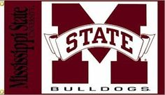 "Mississippi State 3' x 5' Premium College Flag by NEOPlex. $19.95. Reinforced Headband. 3' x 5' Collegiate Flag. 150 Denier Polyester. 2 Grommets For Flying. ""This premium 3' x 5' flag is made of heavy duty 150 denier polyester and has a wide, reinforced headband with two grommets for flying!"". Save 50%!"