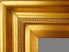 """Beautiful Picture Frame! Perfect For Artwork, Photographs, Canvas Paintings, Oil Paintings, Watercolor Paintings, Acrylic Paintings, Portraits, Wedding Pictures, Diplomas, Family Photographs & More. Classic Gold Contemporary Beaded 2.5"""" Wide Picture Frame."""