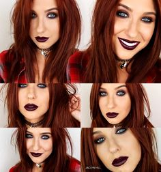 Grunge Makeup de Jaclyn Hill - Love this for Halloween day ! *-* ♥ - Grunge Makeup de Jaclyn Hill – Love this for Halloween day ! 1990s Makeup, Punk Makeup, Grunge Makeup, Hair Makeup, 90s Grunge Hair, Grunge Look, Grunge Style, Soft Grunge, Makeup Inspo
