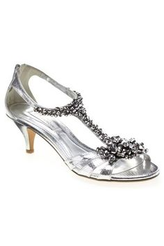 Sparkly silver shoes chunk jewlery like on your dress.  Homecoming shoes