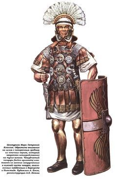 Centurions outfit in the era of the Julio-Claudian