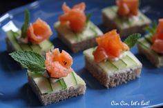 Tea Party: Smoked Salmon with Cucumber Open Face Sandwich Fun Snacks For Kids, Snacks For Work, Healthy Work Snacks, Savory Snacks, Yummy Snacks, Cucumber Tea Sandwiches, Mini Sandwiches, Finger Sandwiches, Sandwich Catering