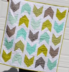Baby Boy Quilt. LOVE LOVE LOVE this one., but change the aqua to Navy