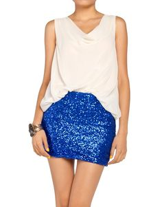Sequin skirts for Fall and Winter.