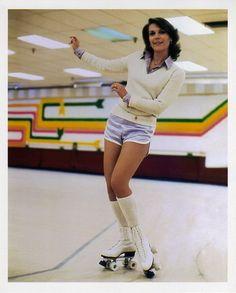 Natalie Wood on roller skates