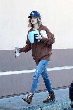Lucy Hale wearing New Era Los Angeles Dodgers Cap