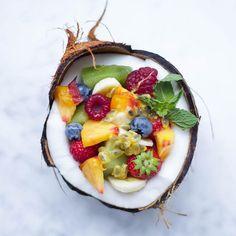 coconut fruit bowl