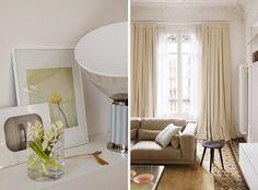 Niezwykłe mieszkanie w Barcelonie - wzrok przykuwają misterny witraż i mozaika podłogowa - Dom