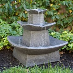 Zen Lighted Outdoor Fountain - Fountains at Hayneedle