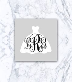 Welcome to monogram X O X O!  This listing is for one laser-cut Monogram Wedding Dress decal which can be applied to all smooth surfaces (examples include: car, laptop, iPad, mirror, Yeti, Tervis Tumbler, school supplies - the possibilities are endless!) (pictured above on a Yeti rambler).  Application is simple, as the decal will arrive in one easy-to-apply transfer sheet that facilitates application. Instructions will be included. The decal is made of highest quality outdoor vinyl, and can…