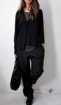 Style - Minimal + Classic: baggy casual black